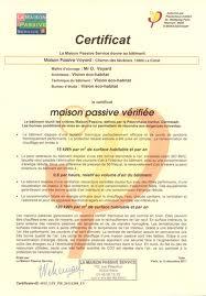 certificat maison passive